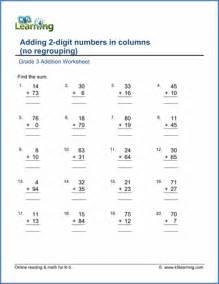 grade 3 addition worksheets free amp printable k5 learning