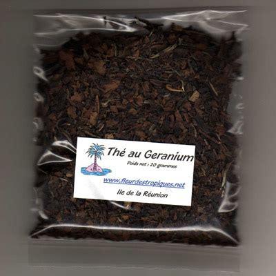 geranium tea fleur des tropiques
