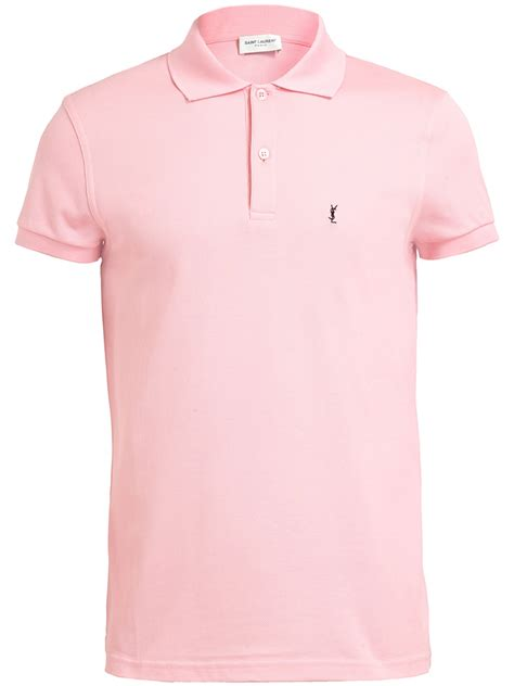 Blouse Qorry Polo Pink lyst laurent pique polo shirt in pink for