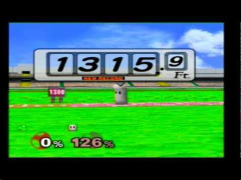 smash bros melee home run contest yoshi island