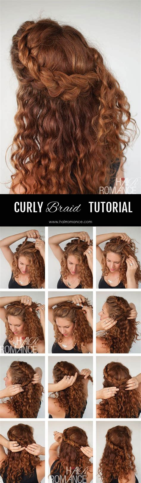 Curly Hairstyles For Tutorial by Curly Hair Tutorial The Half Up Braid Hairstyle Hair