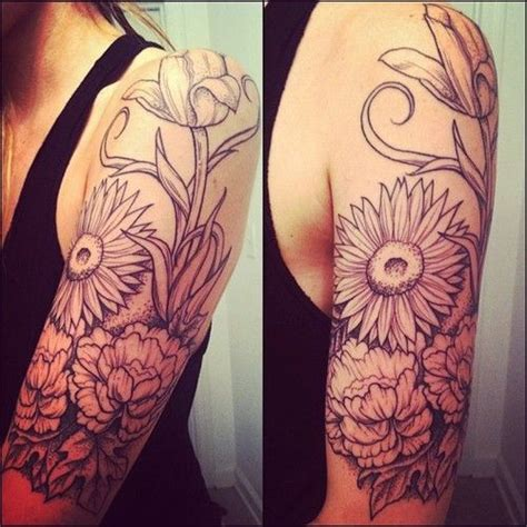 rose and sunflower tattoo 254 best images about tattoos on flower
