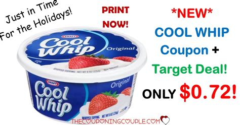 cool whip coupons new cool whip coupon target deal 0 72