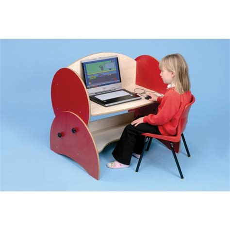 Low Computer Desk Low Level Height Adjustable Computer Desk From Early Years Resources Uk