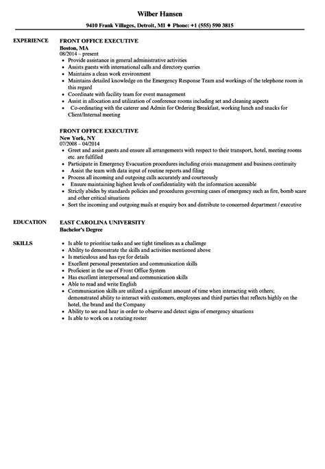 sle resume for hotel front office executive front office executive resumes hola klonec co