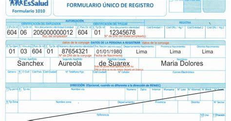 afiliacin de pareja al essalud essalud formulario 1010 descargar facebook