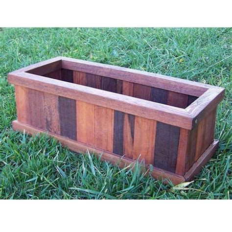 Herb Box Planter by Redwood Planter Box For Herb Garden I Summer