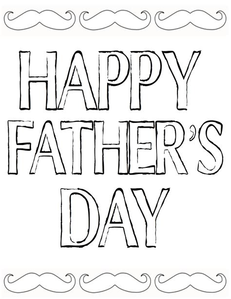 coloring pages father s day printable fathers day coloring pages to print free large images