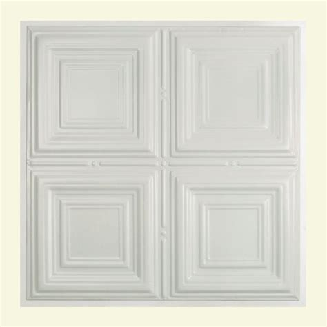 gratifying suspended ceiling tiles great great lakes tin syracuse 2 ft x 2 ft lay in tin ceiling tile in matte white y50 01 the home