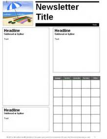 Newsletter Templates For Teachers Free by Education World June July Parent Newsletter Template