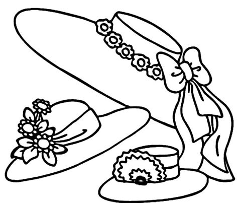 coloring pages of sun hats coloring page for sun hats women coloring pages
