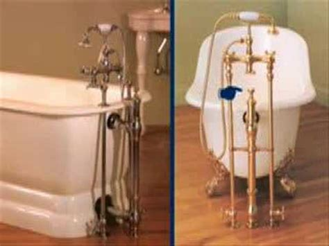 how to install a clawfoot bathtub choosing a drain for a clawfoot tub youtube
