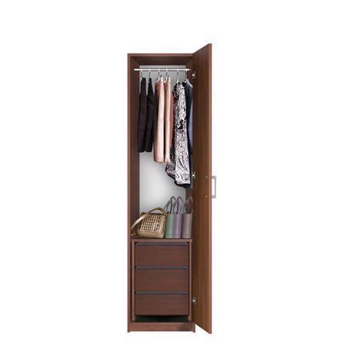 Slim Wardrobe With Shelves Narrow Closet Right Opening Door 3 Interior