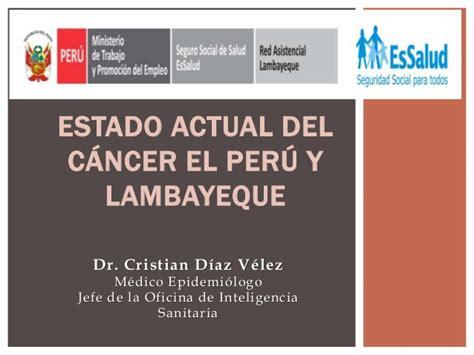 pronostico del signo de cancer del 2016 estado actual del c 225 ncer en el per 250 y lambayeque