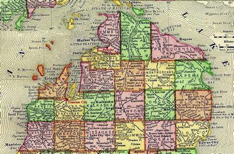 map of northern mi northern michigan
