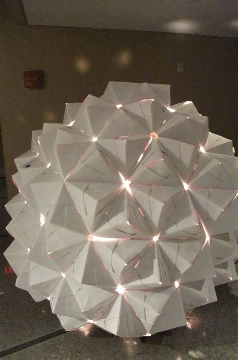 Origami Sphere - free coloring pages glowing origami sphere ele flickr
