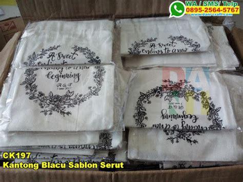 desain sablon bunga kantong blacu sablon serut souvenir pernikahan