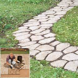 patio stepping stones cement pathmate concrete stepping molds random cement