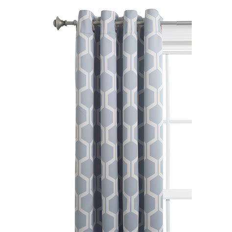 grey room darkening curtains shop style selections quinn 84 in grey snow polyester