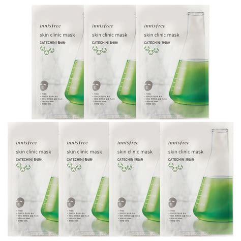 Innisfree Skin Clinic Mask Madecassoside 1 Pcs Masker Wajah Lemon innisfree skin clinic mask 20ml x 7pcs free gifts ebay