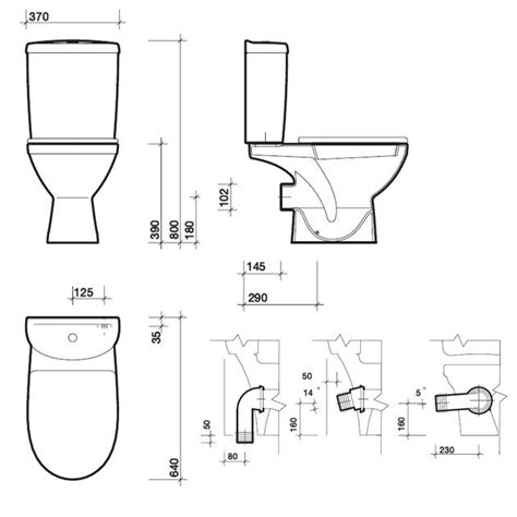 Toilet Plumbing Size by Corner Toilets Dimensions Images