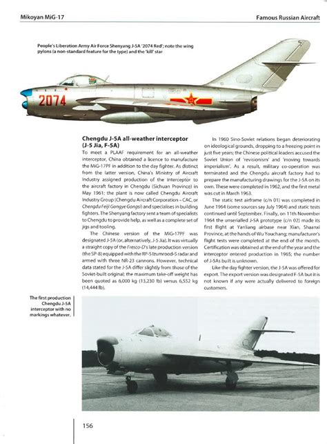 mikoyan mig 19 famous russian review famous russian aircraft mikoyan mig 17 ipms usa reviews