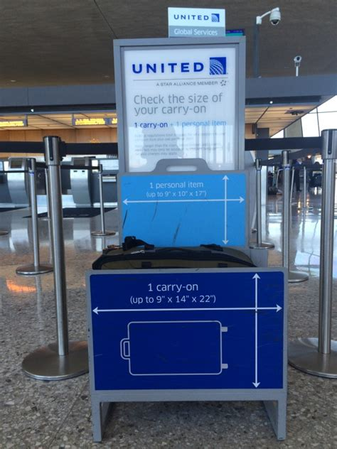 united airlines check in baggage if the suitcase fits read the article