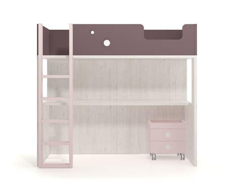 lit mezzanine avec bureau et armoire int馮r駸 lit haut compos 233 d un bureau et d une armoire meubles