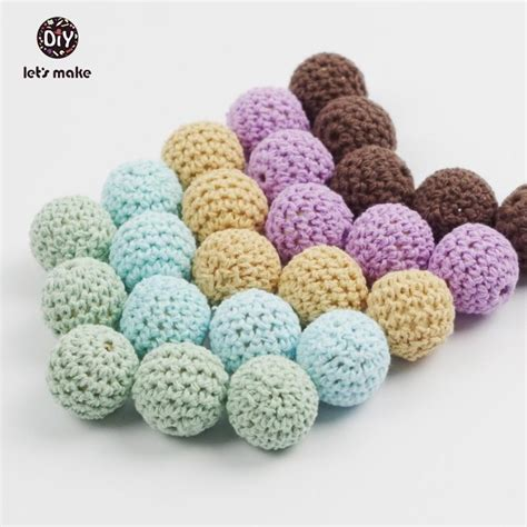 Baby Safe Bola Kapas Cotton Balls wooden rings and wooden crochet set diy nursing