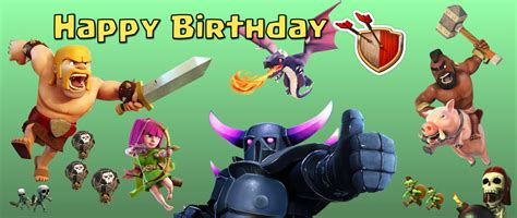 clash of clans printable birthday banner clash of clans birthday banner generic digital file