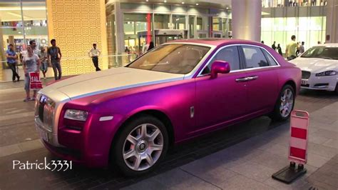 roll royce purple matte frosted purple rolls royce ghost at dubai mall youtube