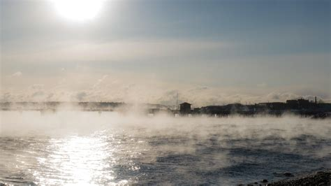 sea smoke oc sea smoke in portland me 5456 x 3064 js4 red