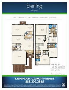 Garage Floor Plan Aragon By Lennar Homes Estate Home Floorplans