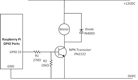 npn transistor raspberry pi transistors controlling dc motor with raspberry pi electrical engineering stack exchange