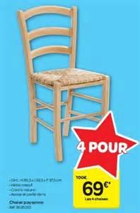 carrefour promotion chaise paysanne produit