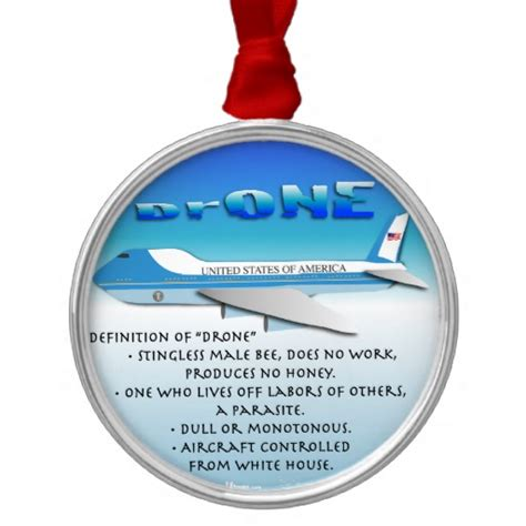 definition of drone round metal christmas ornament zazzle