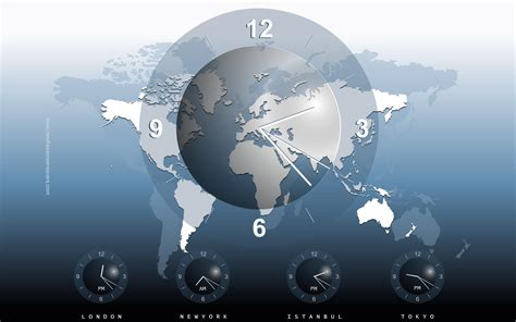 earth clock wallpaper world clock desktop wallpaper wallpapersafari