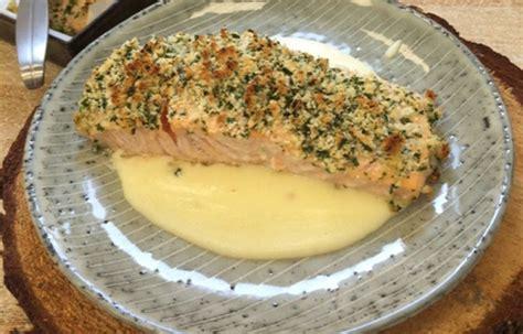 zuppa di sedano rapa ricetta trancio di salmone gratinato alle erbe con crema