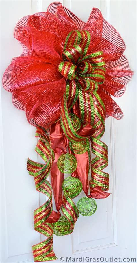 video tutorial for deco mesh double christmas bow with