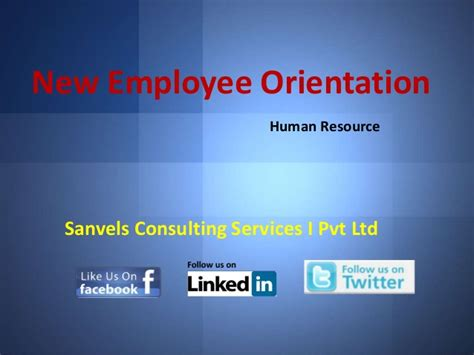 new employee orientation for a company human resource ppt