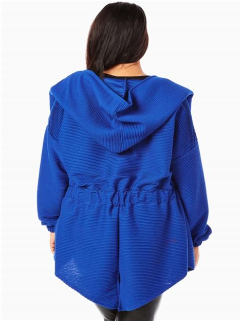 Royal Jacket royal hooded plus size jacket modishonline