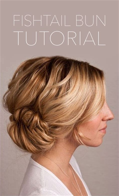 Wedding Hair Bun Tutorial by Fishtail Bun Wedding Hair Tutorial Once Wed