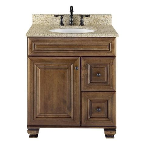Lowe S Canada Bathroom Vanities Allen Roth 20j Vsdb30 Ballantyne 30 In X 21 In Mocha With Glaze Traditional Bathroom
