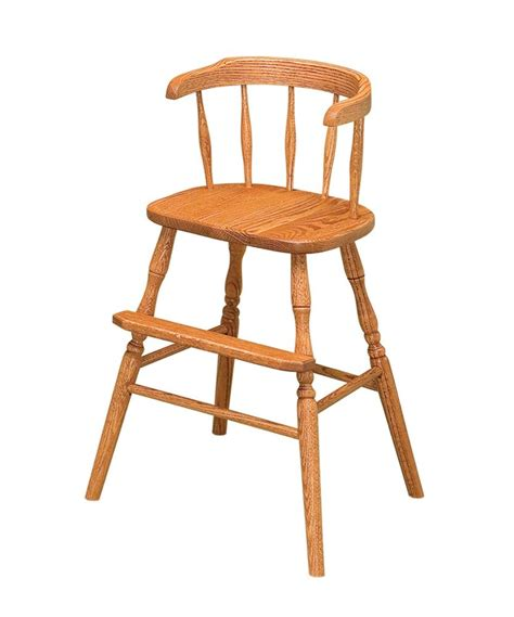 Youth Dining Chair Amish Chairs Youth High Chair Arm Side Dining Booster Seat Furniture Solid Wood Ebay