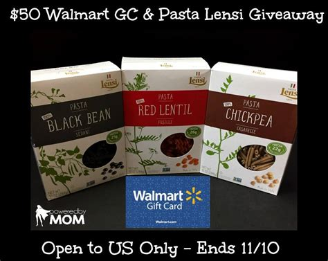 How To Combine Walmart Gift Cards - pasta lensi and 50 walmart gift card giveaway