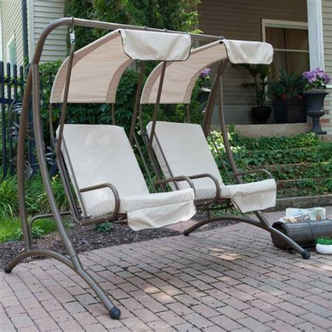 patio swing chair with canopy 9 cool and cozy patio swing with canopy designs
