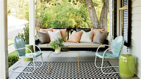 southern living home decor peaceful porch swings southern living