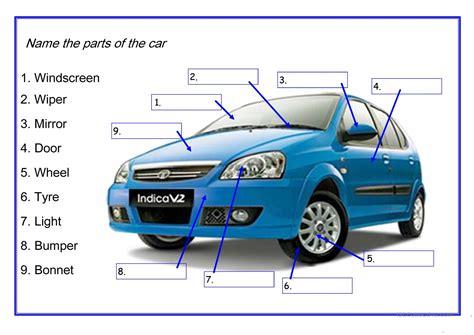 Car Lights Names by Car Parts Worksheet Free Esl Printable Worksheets Made By Teachers