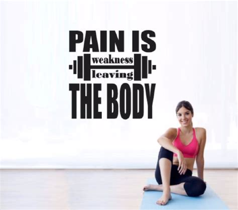 pain is weakness leaving the body tattoo wall decals decals and on