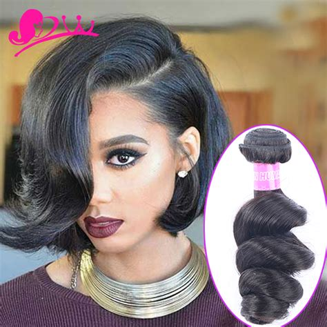 dija weaving hair styles star style human hair short loose wave brazilian virgin